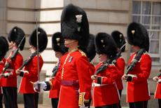 The Queens guard in London. Tours to Ghana and Israel.